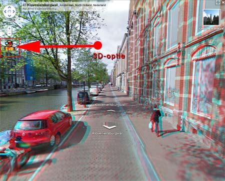 Bekijk Google Maps Streetview in 3D