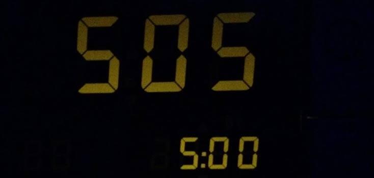 vijf uur